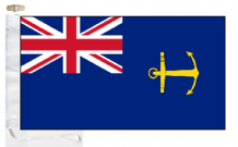 Royal Navy Government Service Ensign Courtesy Boat Flags (Roped and Toggled)